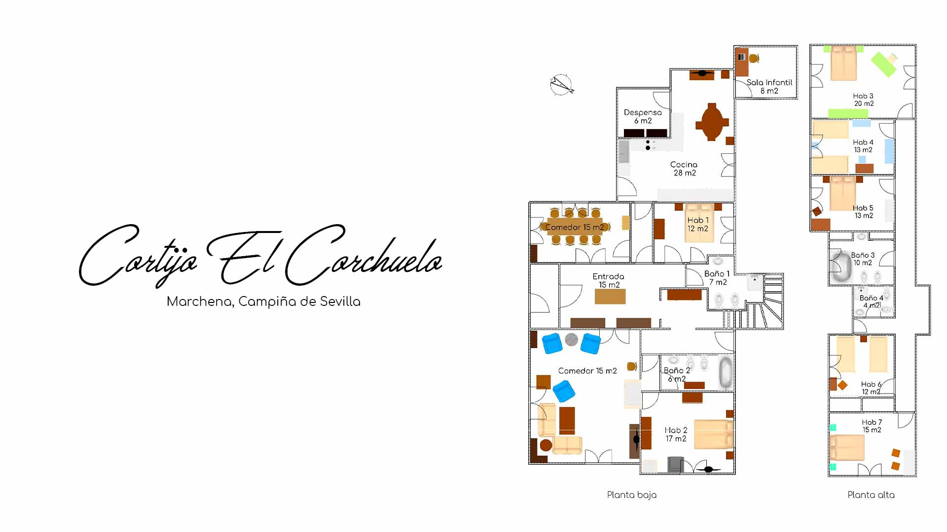 Plano Casa Rural La Teja - Marchena